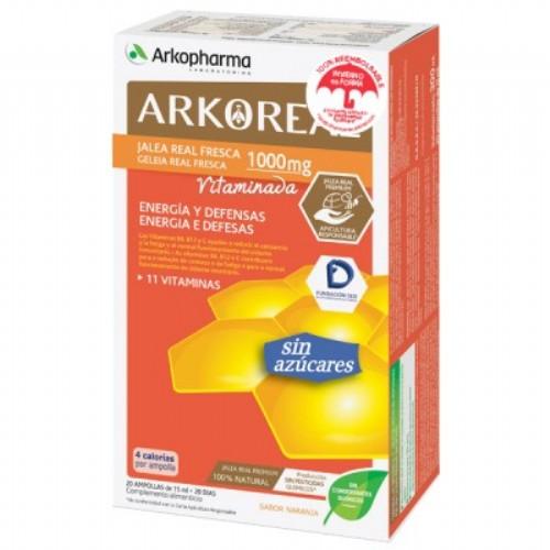 Arkoreal jalea real vitaminada sin azucar (15 ml 20 amp)