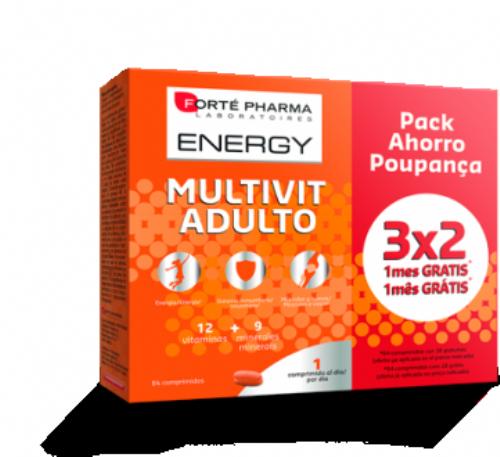 Forte pharma Energy Multivit adulto Pack ahorro 84 comp