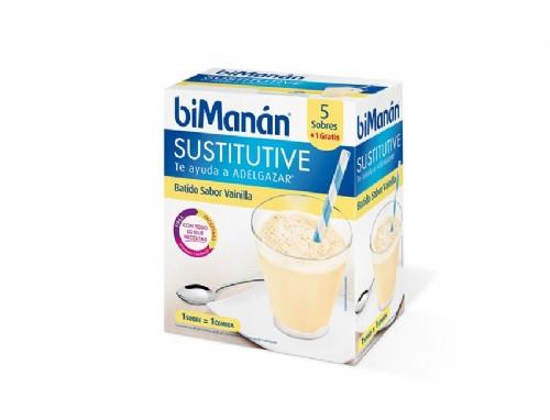 Bimanan sustitutive batido de vainilla (55 g 6 sobres)