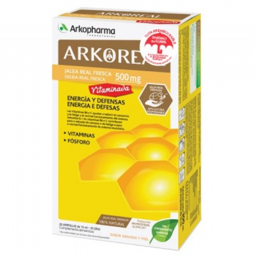 Arkopharma jalea real vitaminada 500 (20 amp)