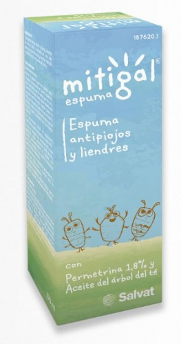 Mitigal espuma antipiojos y liendres (100 ml)