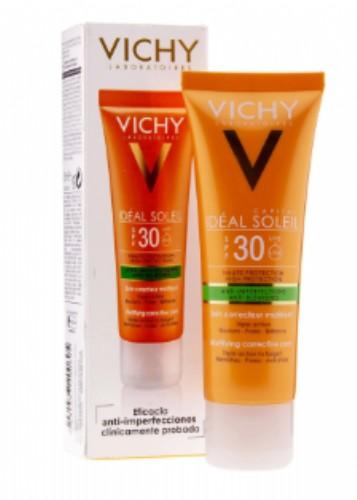 Vichy Idéal Soleil Cuidado protector Anti-imperfecciones 3 en 1 SPF30+ 50ml