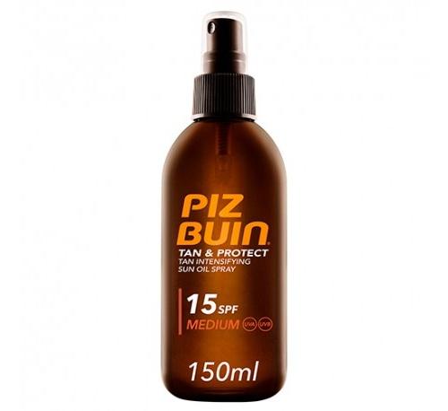 piz buin tan & protect oil spray 15spf