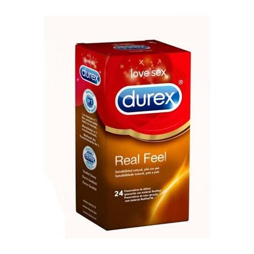Durex real feel preservativo sin latex (24 u)