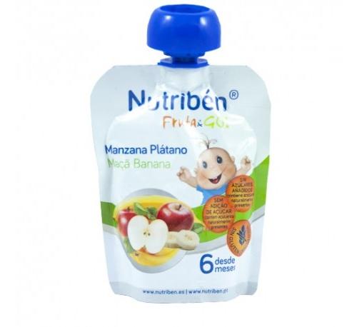 Nutriben fruta & go manzana platano (90 g)