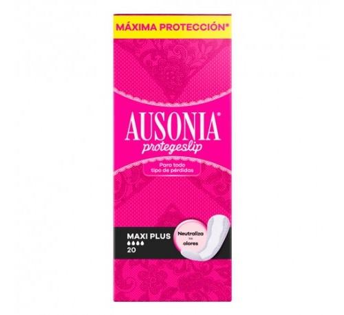 Protectores ausonia - protege slip (maxi plus 20 unidades)