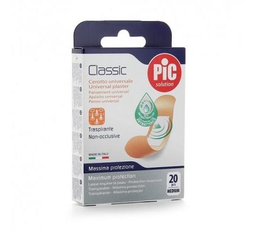 Pic classic con bactericida - aposito adhesivo (19x 77 mm 20 u)