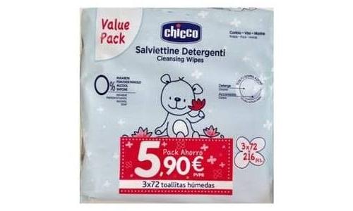 Toallitas humedas - chicco (3 x 72 toallitas)