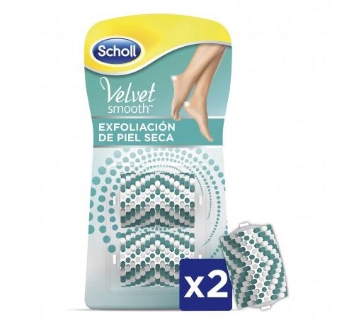 Scholl velvet smooth - recambio exfoliante para piel seca (2 recambios)
