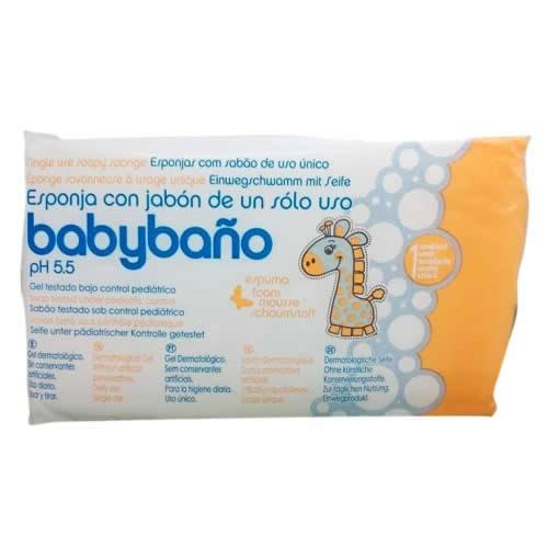 Babybaño esponja de un solo uso (25 unidades)