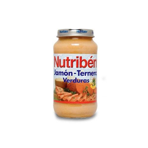 Nutriben jamon ternera verdura (potito grandote 250 g)