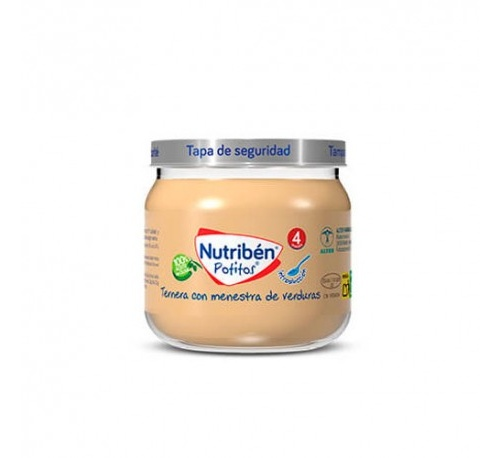 Nutriben potito inicio a la carne - ternera con menestra de verduras (120 g)