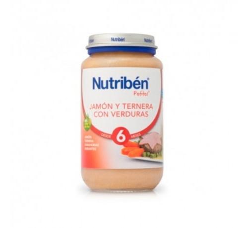 Nutriben jamon y ternera con menestra de verduras (potito 235 g)