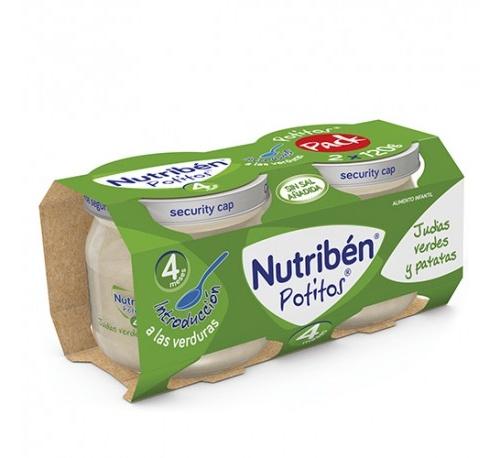 Nutriben potito inicio a las verduras - judias verdes patatas (2 x 120 g)