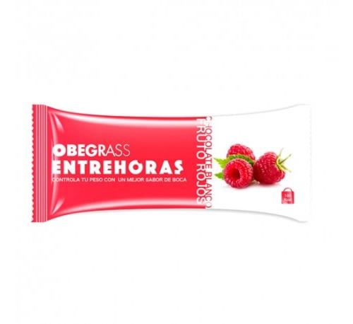 Obegrass entrehoras barrita - chocolate blanco y frutos rojos (30 g)