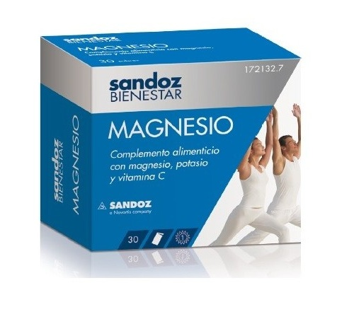 Sandoz bienestar magnesio (30 sobres)