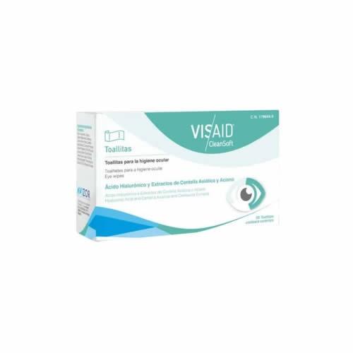 Visaid clean soft toallitas oftalmicas esteriles (20 toallitas)