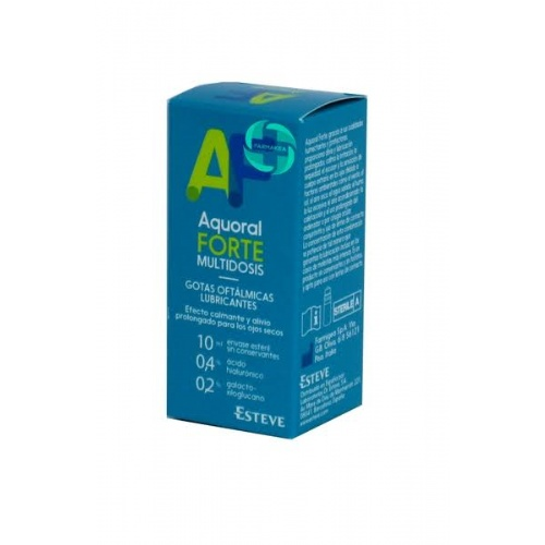 Aquoral forte multidosis - gotas oftalmicas lubricantes esteriles (1 envase 10 ml)