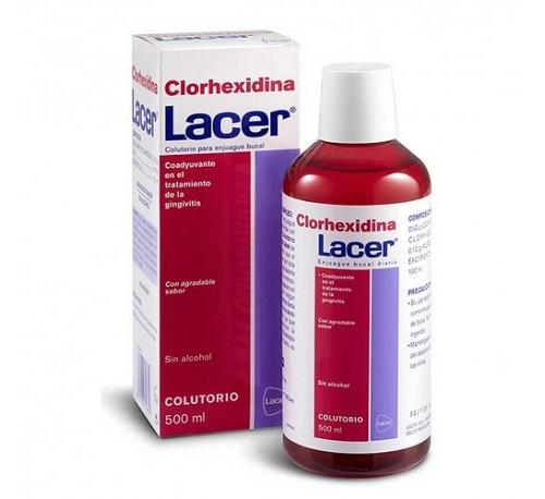 Lacer colutorio clorhexidina 0.2% (1 envase 500 ml)