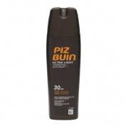 piz buin ultra light sun spry spf 30