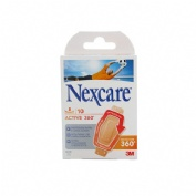 3m nexcare active - aposito esteril (28 cm  x 76 mm 10 u)