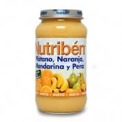 Nutriben platano naranja mandarina y pera (potito grandote 250 g)