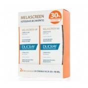 Melascreen crema enriquecida spf 50+ - ducray (duo 40 ml 2 tarros)