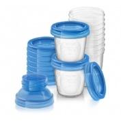 Recipientes via para leche materna - philips avent (10 vasos)