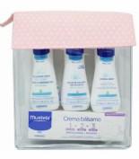 Mustela neceser basico - balsamo colonia crema gel (rosa)