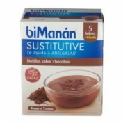 Bimanan Substitutive 6 natillas sabor chocolate