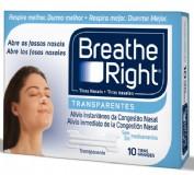 BREATHE RIGHT - TIRA ADH NASAL (TRANSP T- GDE 10 U)