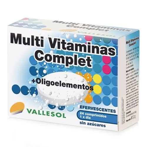 Vallesol multivit complet + oligoelementos (24 comprimidos efervescentes)