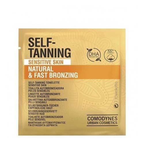 Comodynes self tanning sensitive skin - bronzing natural & fast (8 toallitas)