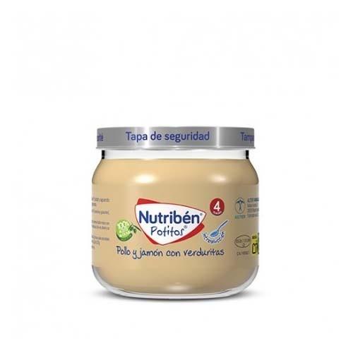 Nutriben potito inicio a la carne - pollo y jamon con verduritas (120 g)