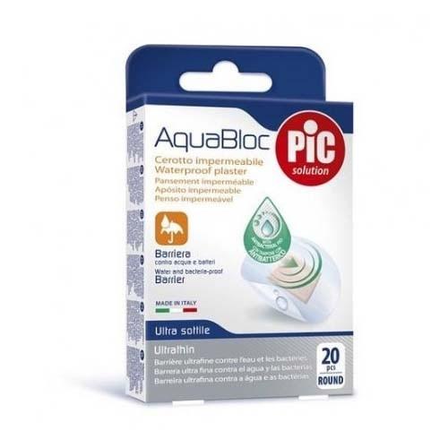Pic aquabloc con bactericida - aposito adhesivo (redondo 22.5 mm 20 u)