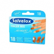 Salvelox finger mix - aposito adhesivo (surtido 18 u)