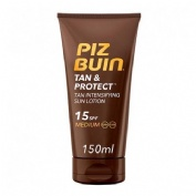 Piz buin tan & protect fps - 15 proteccion media - locion solar intensificadora de bronceado (150 ml