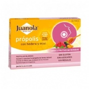 Juanola propolis hiedra pastillas frutas bosque (24 pastillas)