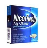 NICOTINELL 7 mg/24 HORAS PARCHES  TRANSDERMICOS , 14 parches